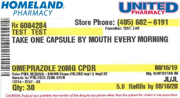 Refill Label Example